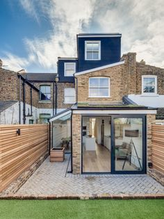 floor loft extension at the back of the property in a terraced house House, House Exterior, Scandinavian Home, Exterior Brick, Exterior Design, New Homes, House Designs Exterior, House Extension Design, Victorian Terrace