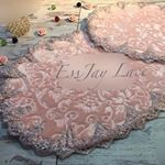 """2 Likes, 1 Comments - EssJay Lace (@essjaylace) on Instagram: """"3&doormat #lacemats #lacebedding #lacetowels #turkishlace #frenchlace #lovelylace #qualitylace…"""""""