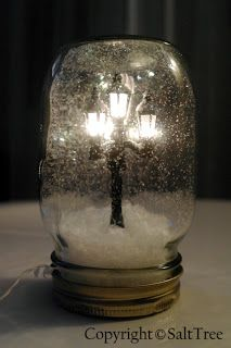 From SaltTree: A DIY Snow Narnia globe ...awesome!! Why wait till Christmas?