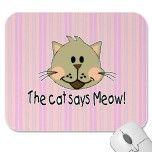 Cartoon Cat Face Mouse Pads