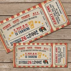 disenos invitaciones img 11 / Circus
