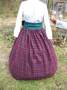 Civil War VictorianRenaissance costume Plaid Long by lavonsdesigns, $74.95