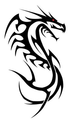 Design I did for friend who wanted a dragon from a previous design he saw but instead wanted a sword instead of a cross. Tribal Dragon and Sword Tattoo Pintura Tribal, Arte Tribal, Tribal Art, Tribal Dragon Tattoos, Dragon Tattoo Designs, Tattoo Sketches, Tattoo Drawings, Dragon Line, Tattoo Diy