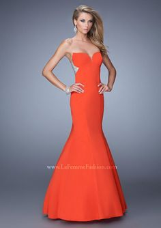 2015 Orange Mermaid Sweetheart Neckline Beaded Satin Floor Length Evening Dress/ Prom Dresses 21396