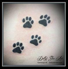 black small cat paw prints simple kamloops dolly's skin art