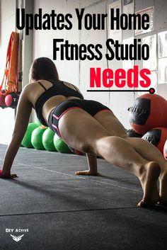 Updates Your Home Fitness Studio Needs via @DIYActiveHQ #fitness #homegym #health