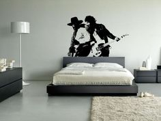 """Too much for my living room? Bruce Springsteen & Clarence Clemons Wall Decal 45""""x30"""". $29.99, via Etsy."""