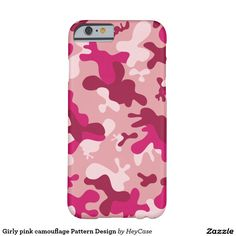 Girly pink camouflage Pattern Design Barely There iPhone 6 Case
