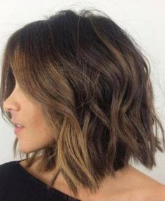 Shaggy Brunette Bob with Face Framing Balayage- Bob hairstyles
