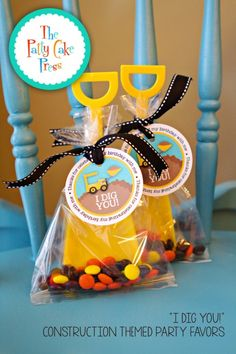 "Fun Favor Friday-""I Dig You"" Construction Themed Party Favor Tags » The Patty Cake Press"