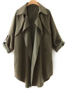 Double-Breasted Asymmetric Trench Coat