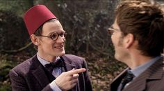 The Day of the Doctor. He's wearing the fez! And Amy's glasses! And then ten is wearing his glasses