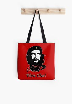 Che Guevara, Viva Che! • Millions of unique designs by independent artists. Find your thing. Redbubble Tote bags - #redbubble #bags #accessories #womens #style #casual Also available as T-Shirts & Hoodies, Men & Women Apparel, Stickers, iPhone Cases, Samsung Galaxy Cases, Posters etc. Large Bags, Small Bags, Samsung Galaxy Cases, Iphone Cases, Cotton Tote Bags, Reusable Tote Bags, Medium Bags, Cool Shirts, Are You The One