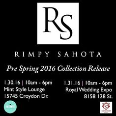 fabulous vancouver wedding Valentine's and Pre Spring 2016 Collection See you this wknd ladies  @redcarpetevents_van @mintstylelounge by @rimpysahota  #vancouverwedding #vancouverwedding