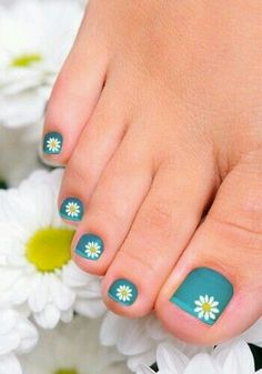 Image viaToenail DesignsImage viaCool & Pretty Toe Nail Art Designs & Ideas For Beginners .Image via Pretty Toe Nail Art D Toenail Art Designs, Toe Designs, Nail Polish Designs, Nails Design, Toe Nail Designs Summer, Fancy Nails, Pretty Nails, Pretty Toes, Colorful Nails