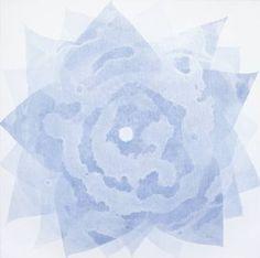 """Saatchi Art Artist Jitka Anlaufova; Painting, """"Abstract Flower Form"""" #art"""