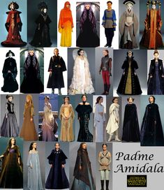 Padme's outfits - I want to cosplay so many of these!