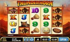 Have you ever seen #Rhinos in a slot game? These are not really common reel features, but the #Thunderhorn slot from Bally Technologies shows that they can provide some fast-paced, #heavyweight action.  This slot has been a #mainstay of the land-based casinos for many years now. If you have played it before you will be glad to know that this online variation has all the #original elements.