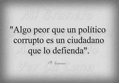 Políticos, ciudadanos y corrupción, en una sola frase en un cuadro
