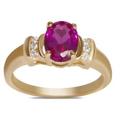 .06cttw and Created Ruby Ring in 10k Yellow Gold - Jewelry Deals 80% OFF + $25 OFF extra discount on purchases $500 & UP ! Enter PINPROMOT coupon at CHECKOUT to get $25 OFF when you place your order @ NissoniJwelry.com