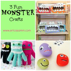 Easy Crafts, Crafts For Kids, Monster Crafts, Monster Party, Birthday Party Themes, Glove, Little Ones, Monsters, Eco Friendly