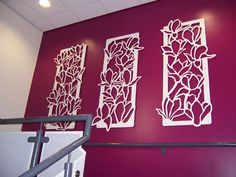Magnolia Laser Cut Steel Panels_York Hospital