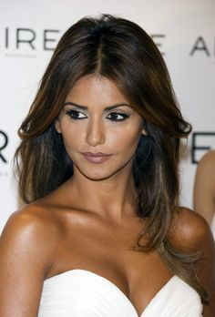 Monica Cruz- Love the rich brunette with the subtle highlights!