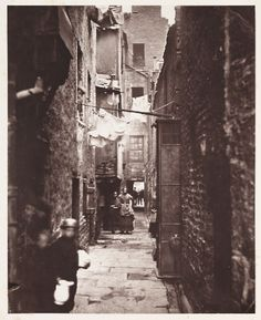 'Close No. 37 High Street', Glasgow, 1868  The photograph, taken by Thomas Annan in 1868, shows a close behind No. 37 High Street in Glasgow.