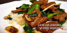 Carne con vegetales  al estilo asiàtico