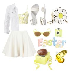 """""""happy easter my friends"""" by epapach ❤ liked on Polyvore featuring Carven, Old Navy, Betsey Johnson, Charbonnel et Walker, maurices, Norma Kamali and Chanel"""