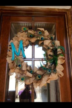 Peacock wreath for a housewarming happy!