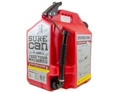 SureCan 5 gallon gas can - fill up your ATV, weedwhacker, generator, etc without getting gas on your hands!