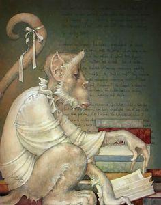 """""""Book Smart"""" ~ Daniel Merriam ~ Watercolorist Extraordinaire"""