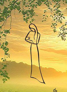 'Feel the line' painting by Russian artist Tatyana Markovtseva Minimalist Drawing, Minimalist Painting, Art Minimaliste, Minimal Art, Line Art Vector, Drawing People, Line Drawing, Rock Art, Art Drawings