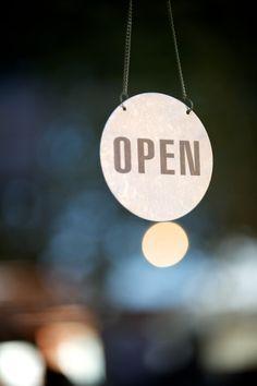 Open Sign, Corner Shop Cafe, Yarraville, photo: guy lavoipierre