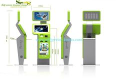 China Ergonomically And Compact, A4 Laser / Thermal Printer Self Service Photo Kiosk For Ports supplier