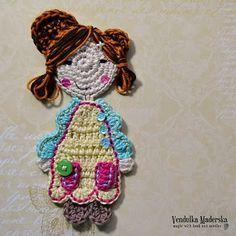 Sweet girl applique free #crochet pattern
