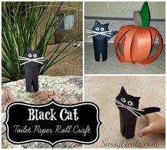 DIY: Easy Black Cat Toilet Paper Roll Craft For Kids (Great For Halloween!) - Sassy Dealz, craft, recycle, toiletpaper rol, elementary school, primary school, knutselen, kinderen, basisschool, wc-rol, toiletpapier rol, kat,