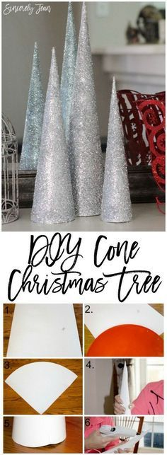 DIY Cone Christmas Tree. Another cute and inexpensive way to make Christmas trees with dollar store cones for your holiday decoration in style.