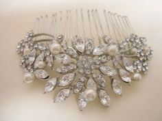 Vintage Inspired  Pearls bridal hair comb, Swarovski pearl hair comb, wedding hair comb, bridal hair accessories, wedding hair accessories by EverythingBride on Etsy https://www.etsy.com/listing/187822808/vintage-inspired-pearls-bridal-hair-comb
