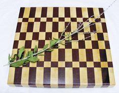 Purple Heart and Hard Maple End Grain - Cutting Board Kitchen Decoration. $45.00, via Etsy.
