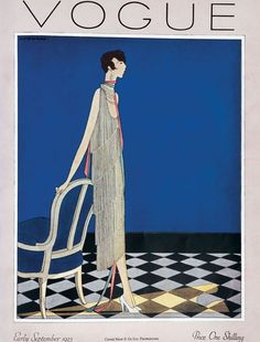 Harriet Meserole : Cover art for Vogue, early september 1925 Vogue Magazine Covers, Fashion Magazine Cover, Magazine Art, Time Magazine, Vogue Vintage, Vintage Vogue Covers, Art Deco Illustration, Harlem Renaissance, Art Deco Stil