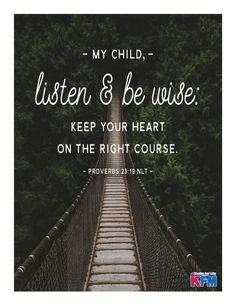 Image result for proverbs 23:19 new life version