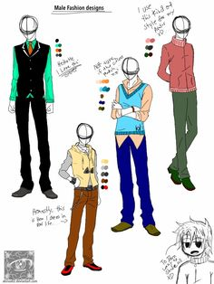 anime male body clothes - Google Search