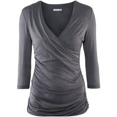H&M $24 Figure-fit wraparound top. Double layer of jersey in front and back sections