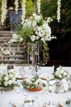 white flowers decor
