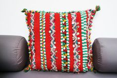 Moroccan Vintage Kilim Berber Pillow Cover Cushion Unstuffed 03YL0362