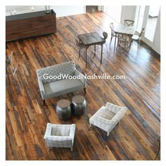 Our reclaimed flooring at The Cordelle event space in Nashville.