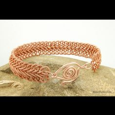 Soutache Braid Coiled Copper Wire Bracelet  by ShaktipajDesigns, $10.00