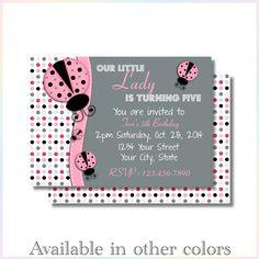 Personalized Printable Invitations | Ladybug 1 | Birthday